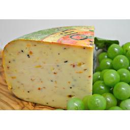 Gouda with Olives and Tomato