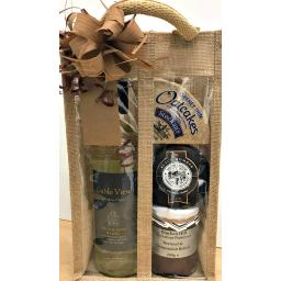 Cheese & Wine Jute Bag