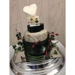 An example of the latest cheese wedding cake from The Cheese Shop