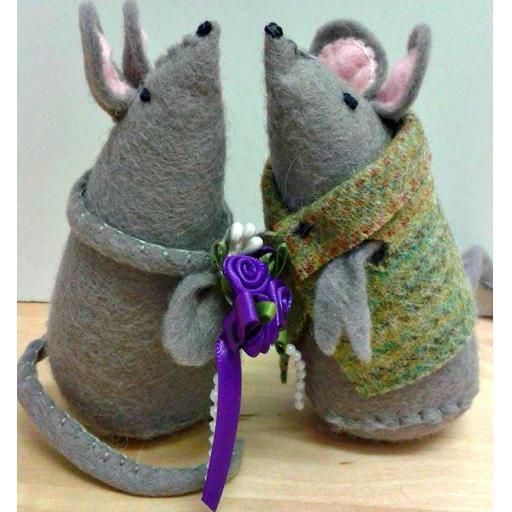 Felt Mice (4 inch)