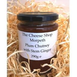 Plum Chutney with Stem Ginger