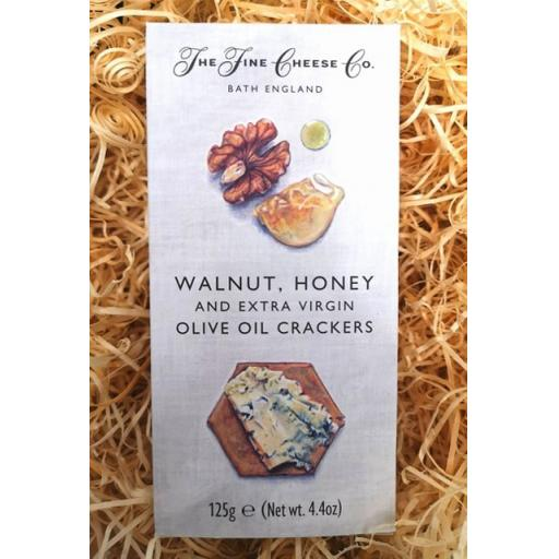 Walnut, Honey and Olive Oil Crackers